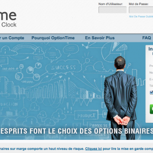 Page d acceuil optiontime