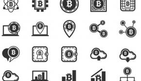 Icones de bitcoin