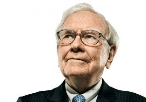 Warren Buffet fond blanc