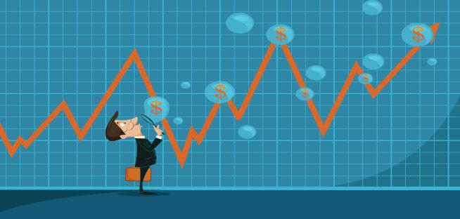 bulle et cours bourse