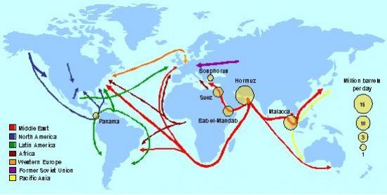 carte du petrole