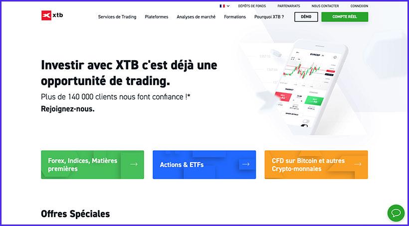 xtb trading accueil