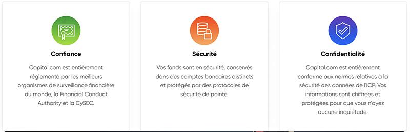 capital.com broker confiance securite confidentialite capture de ecran